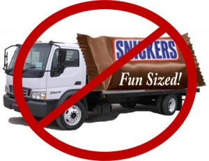 skips uses big trucks only, no fun sized small trucks