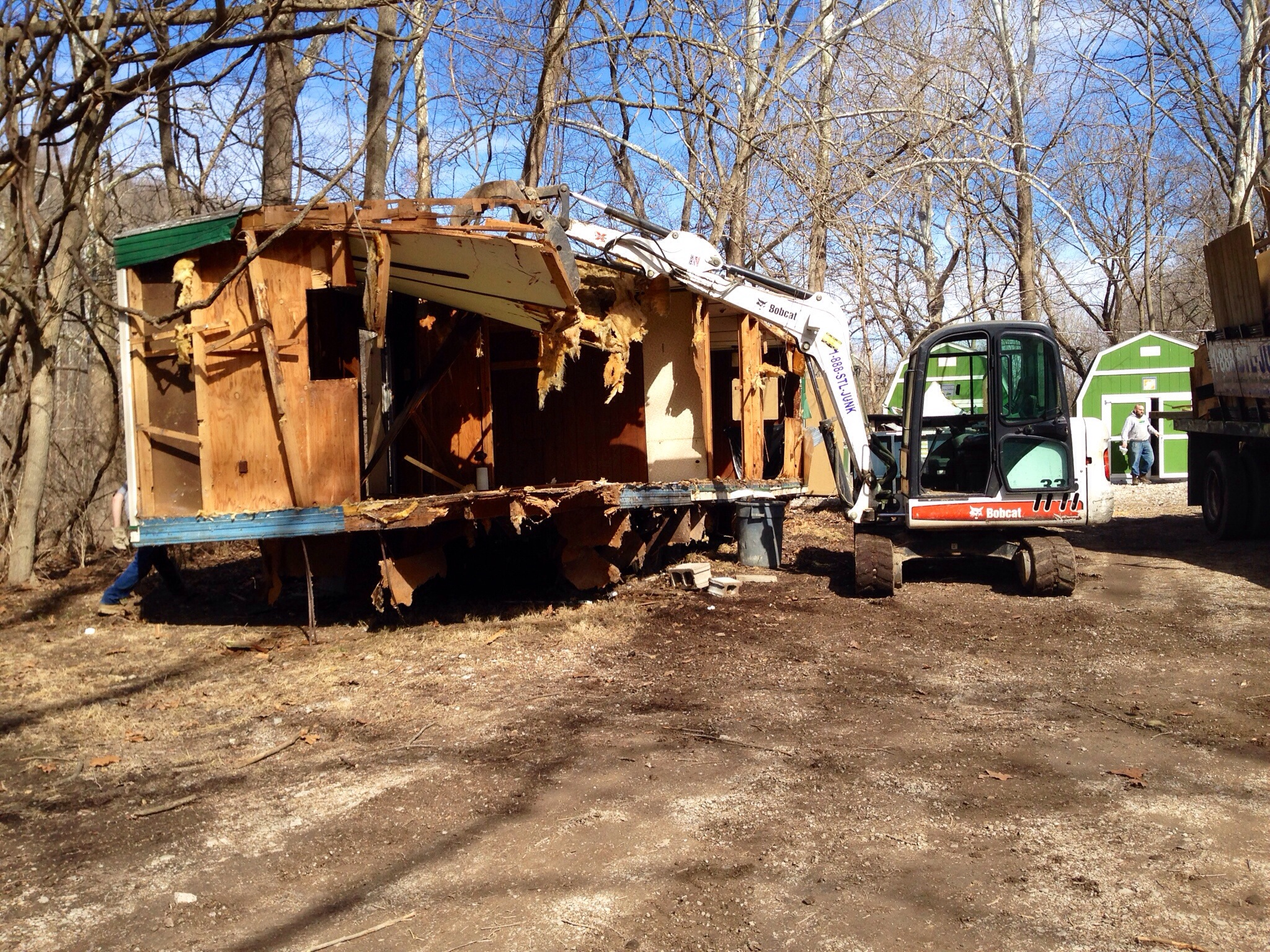 , Demolition and disposal of a mobile office trailer from Tyson Research in Eureka, MO