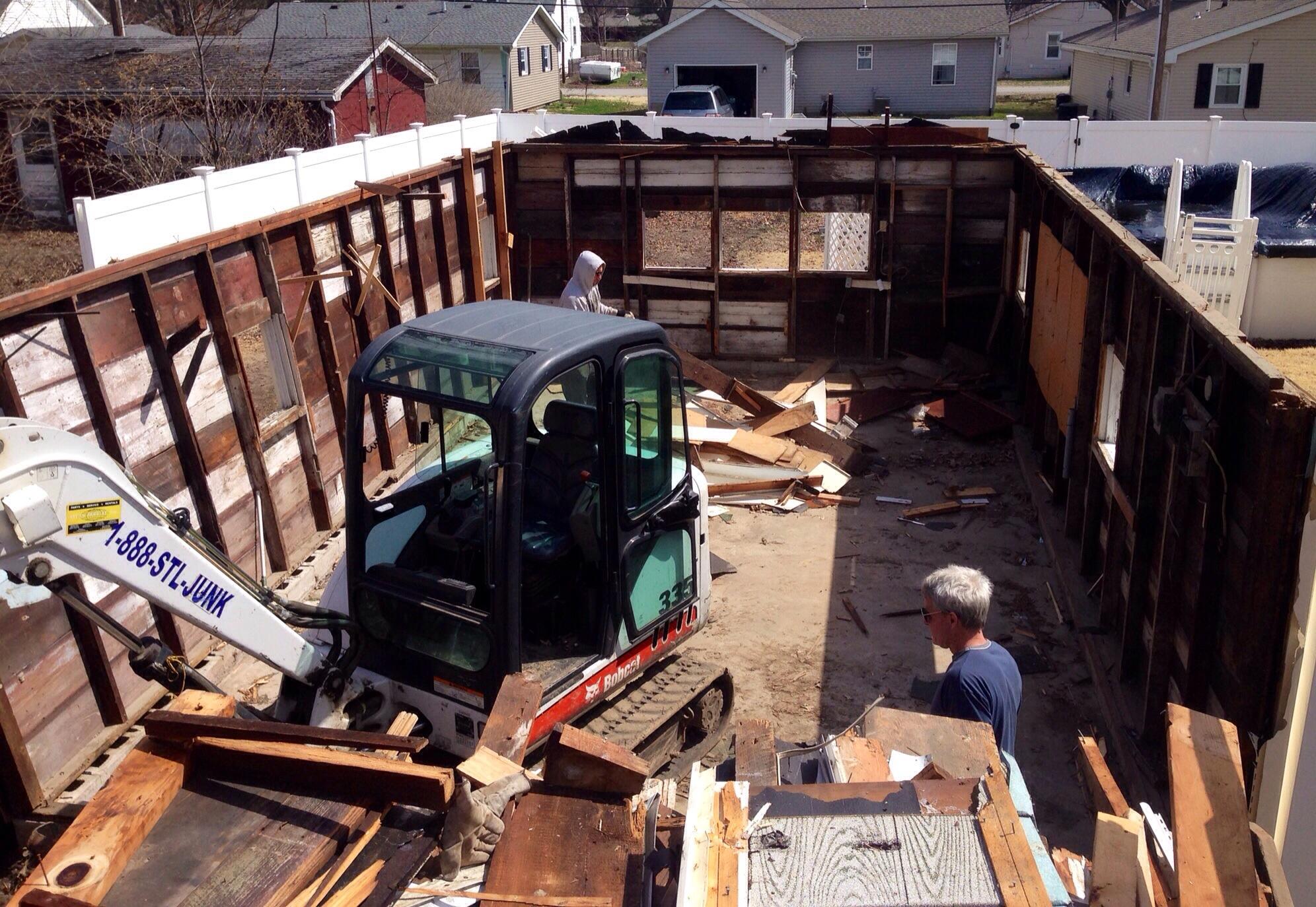 , Garage demolition
