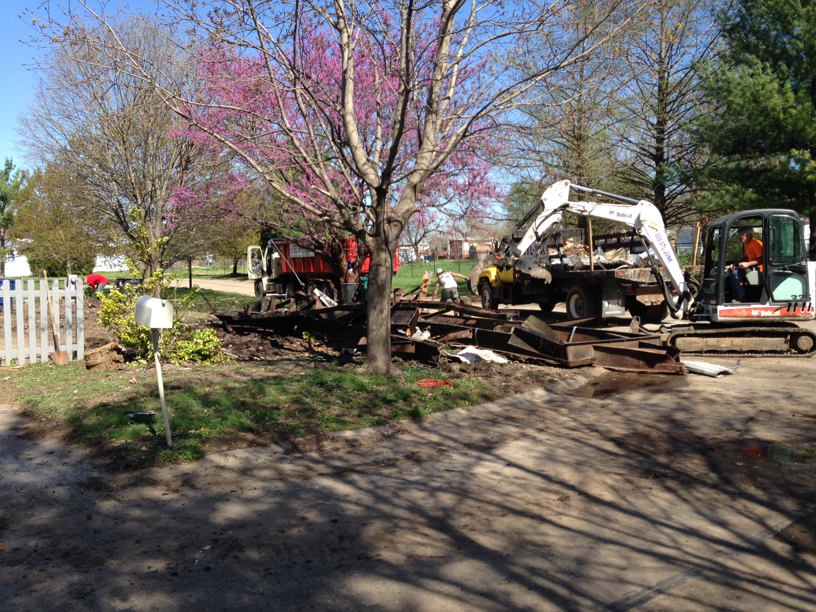 A recent mobile home demolition in St.Charles, MO