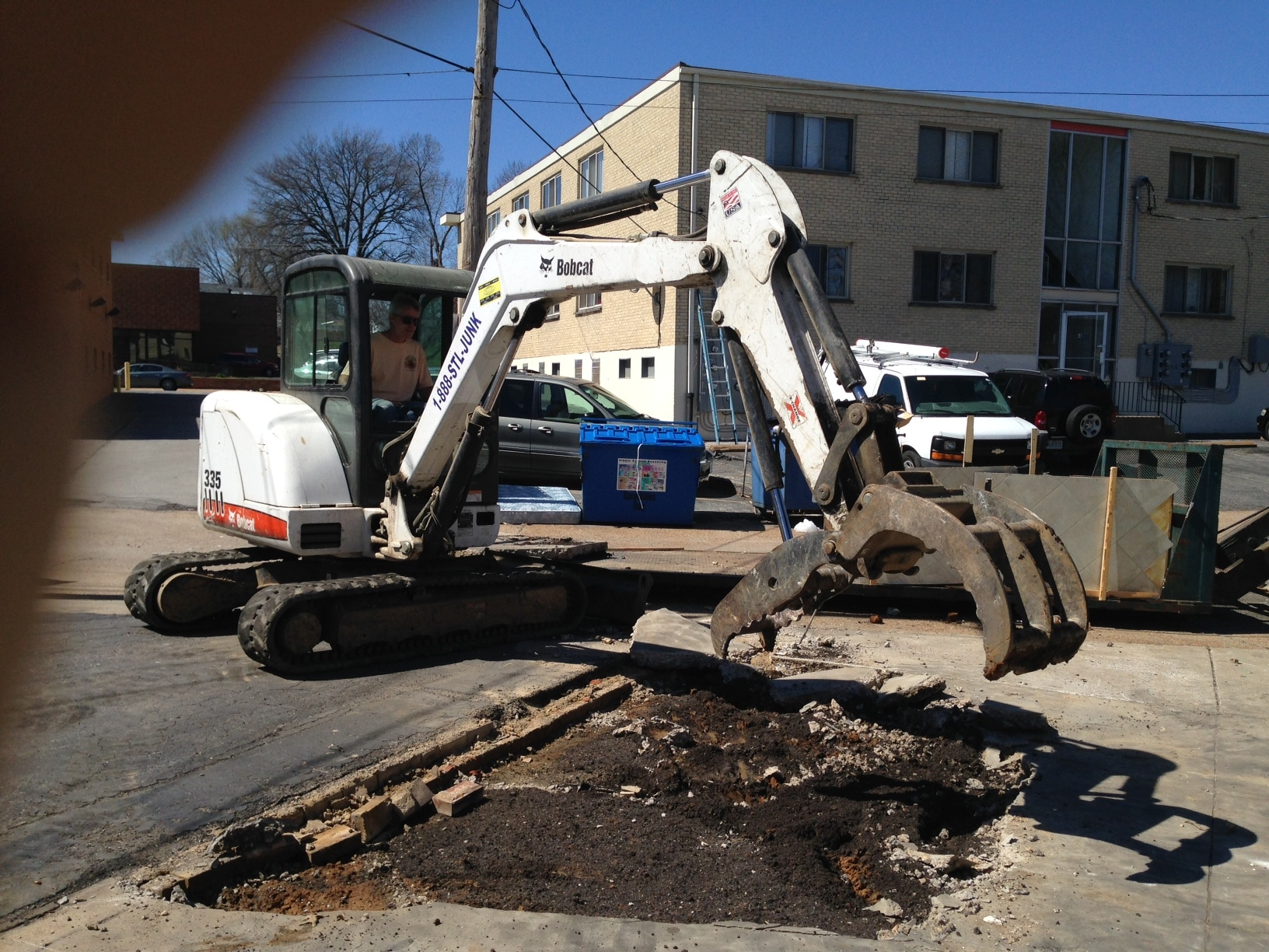 Skip's Can Excavate & Remove Your Worn Out Driveway or Foundation