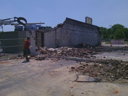 Skip's Demolition of The Title Max Building in Ferguson,MO
