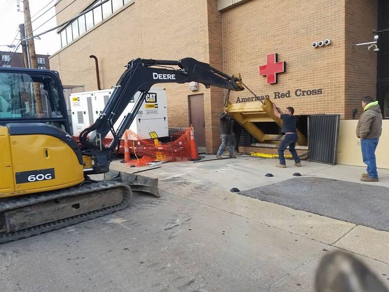 Skip's Removing A 6 Ton Generator From The Red Cross Building